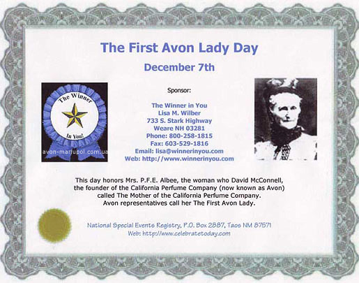 The First Avon Lady Day
