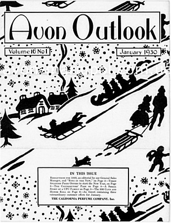 Журнал Avon Outlook, январь, 1930г